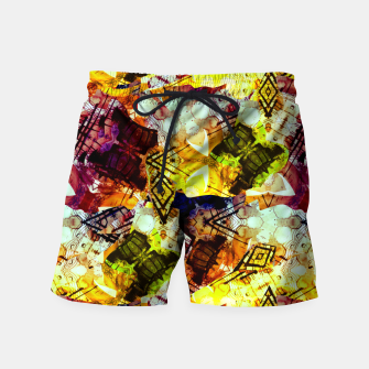 Graffiti Style - Markings on Colors Swim Shorts thumbnail image