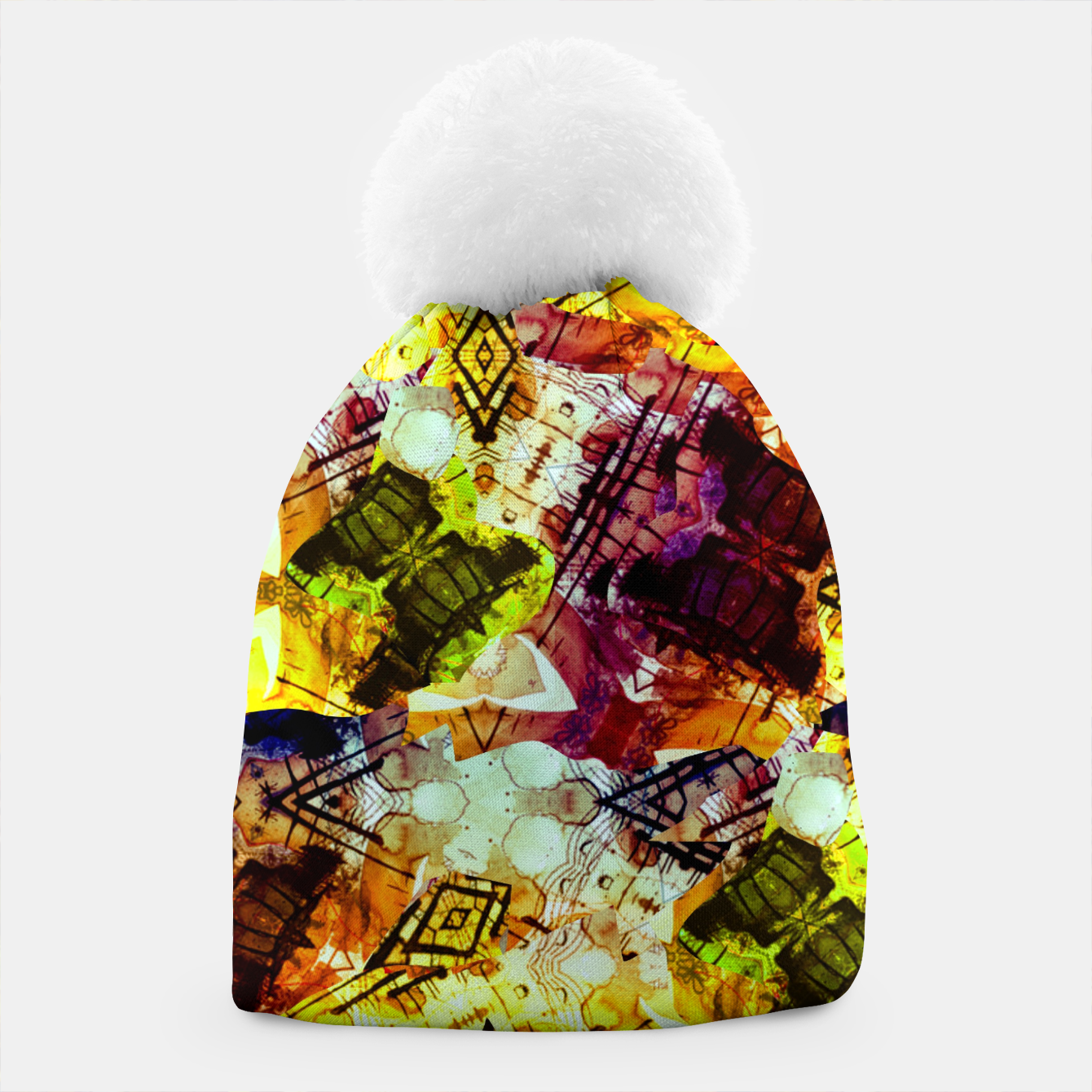 Image of Graffiti Style - Markings on Colors Beanie - Live Heroes