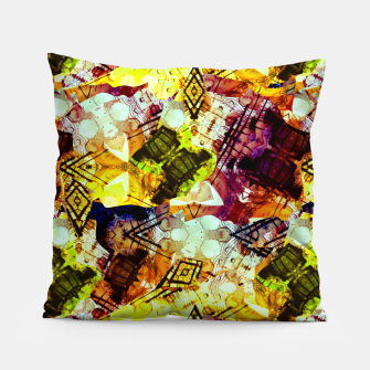 Graffiti Style - Markings on Colors Pillow thumbnail image