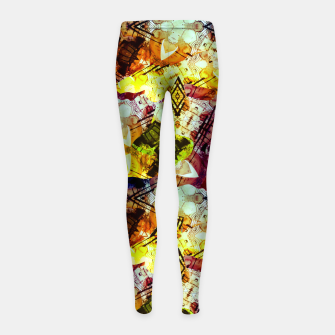 Graffiti Style - Markings on Colors Girl's leggings thumbnail image