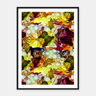 Graffiti Style - Markings on Colors Framed poster thumbnail image