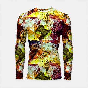 Graffiti Style - Markings on Colors Longsleeve rashguard  thumbnail image