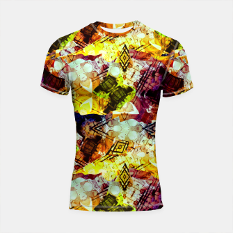 Graffiti Style - Markings on Colors Shortsleeve rashguard thumbnail image