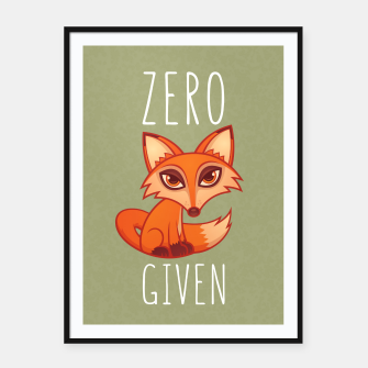 Thumbnail image of Zero Fox Given Framed poster, Live Heroes