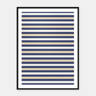 Thumbnail image of Royal Gold Classic Stripes Framed poster, Live Heroes