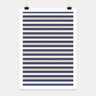 Thumbnail image of Royal Gold Classic Stripes Poster, Live Heroes
