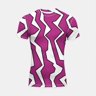 Thumbnail image of Electric Pink Polynoise Shortsleeve rashguard, Live Heroes