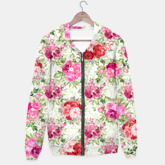 Thumbnail image of JuJu Floral Bouquet Cotton zip up hoodie, Live Heroes