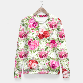 Thumbnail image of JuJu Floral Bouquet Woman cotton sweater, Live Heroes