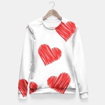 Thumbnail image of drawing heart Woman cotton sweater, Live Heroes