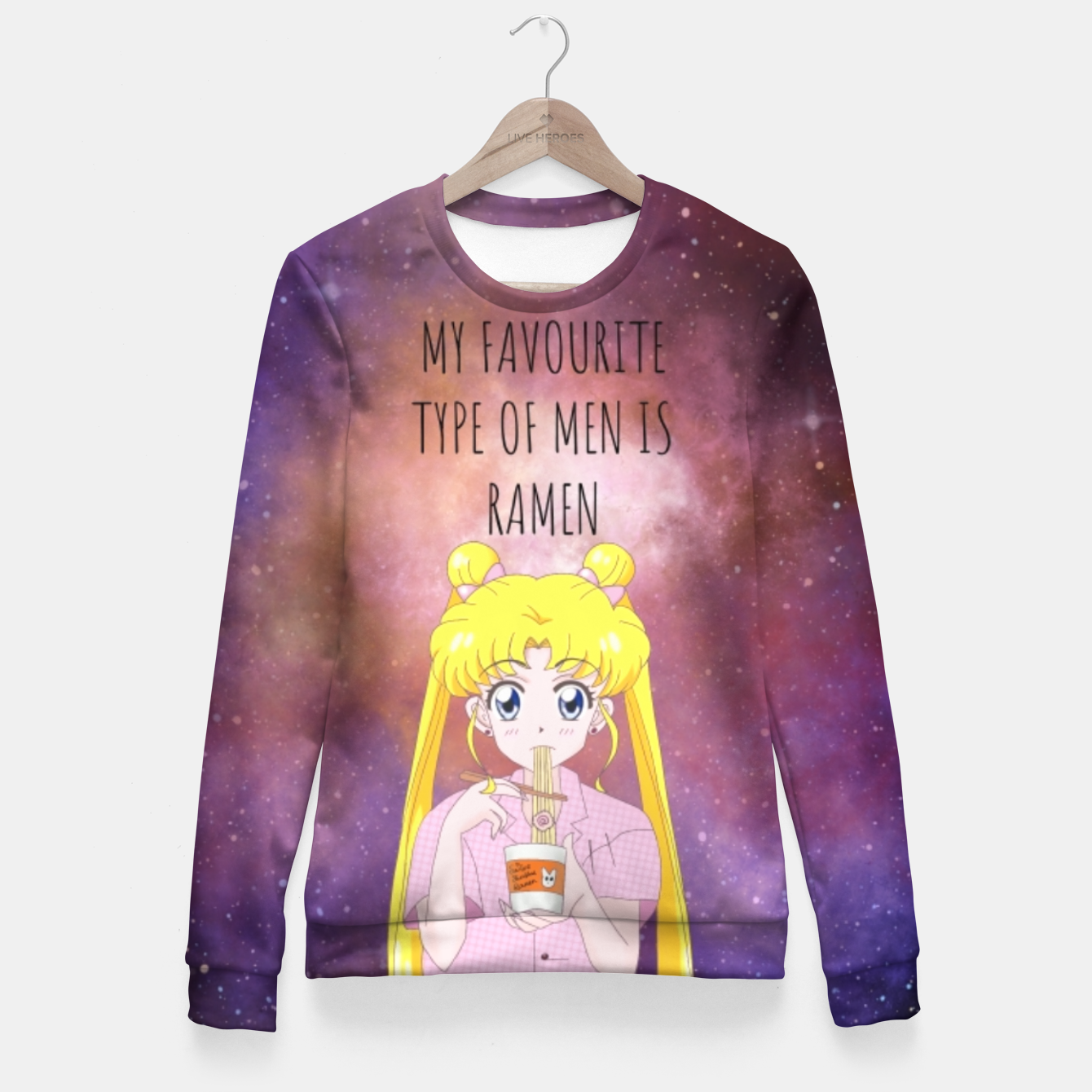 Foto Sailor Moon Ramen 3 Woman cotton sweater - Live Heroes