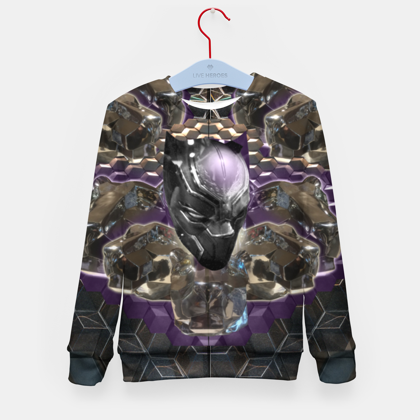 Foto Black Panther Kid's sweater - Live Heroes