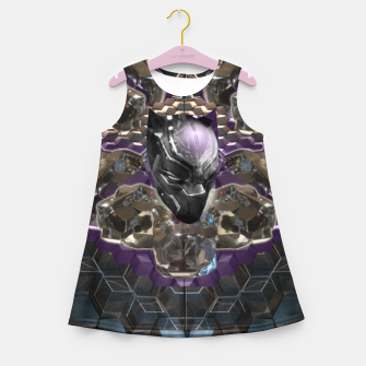 Black Panther Girl's summer dress Bild der Miniatur