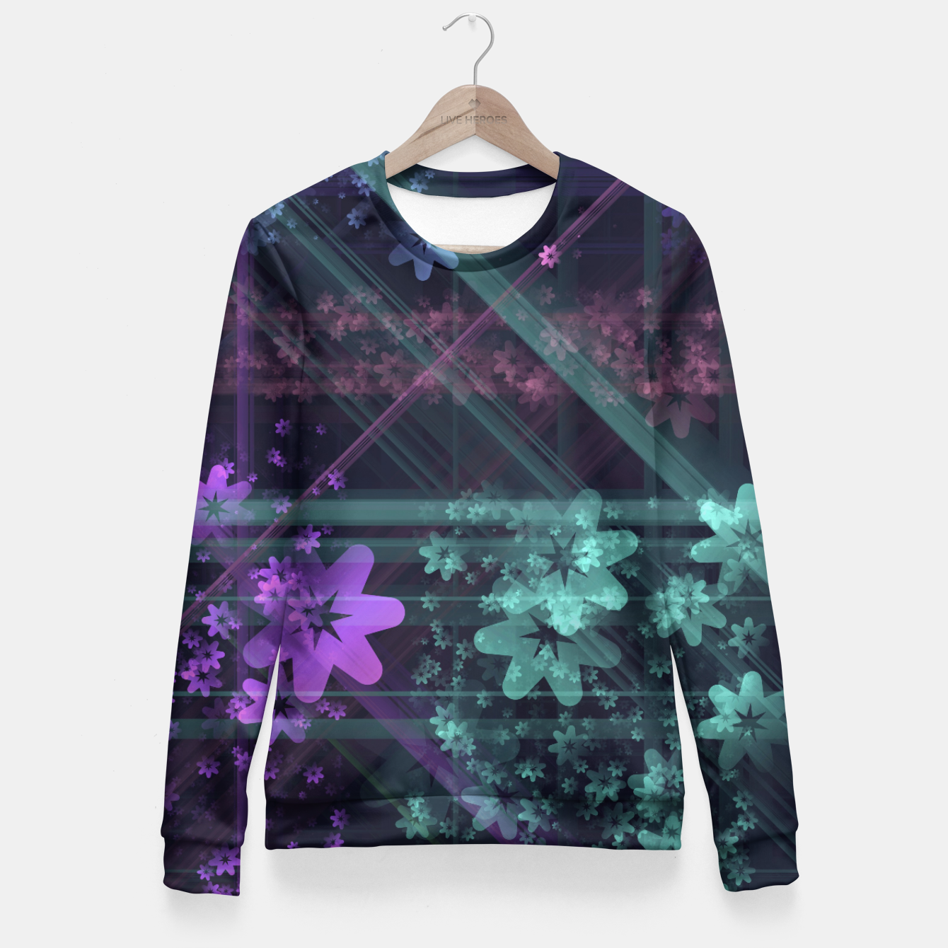 Image of Cosmic Garden Woman cotton sweater - Live Heroes