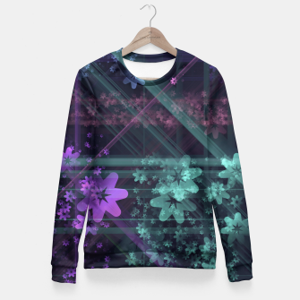 Cosmic Garden Woman cotton sweater thumbnail image