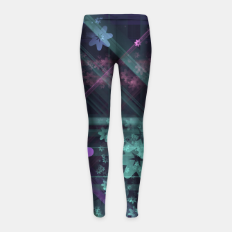 Thumbnail image of Cosmic Garden Girl's leggings, Live Heroes