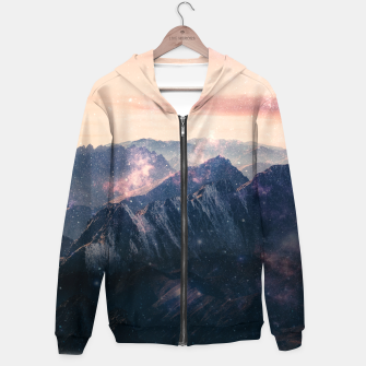 Thumbnail image of Space Landscape Zip up hoodie, Live Heroes