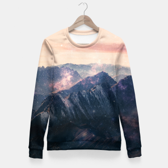 Thumbnail image of Space Landscape Woman cotton sweater, Live Heroes