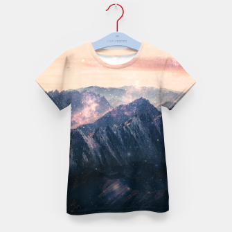 Thumbnail image of Space Landscape Kid's t-shirt, Live Heroes
