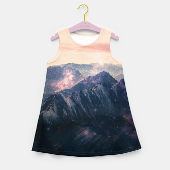 Thumbnail image of Space Landscape Girl's summer dress, Live Heroes