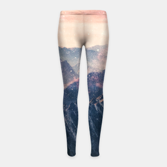 Thumbnail image of Space Landscape Girl's leggings, Live Heroes