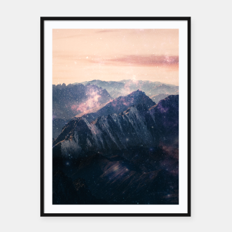 Thumbnail image of Space Landscape Framed poster, Live Heroes