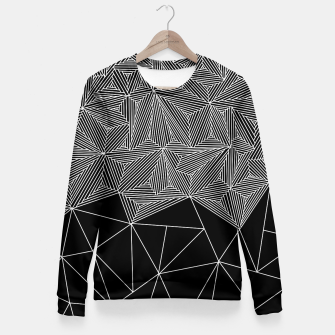 Thumbnail image of Digital Zentangle Incomplet Dark Woman cotton sweater, Live Heroes