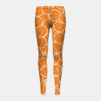 Thumbnail image of Hoop Dreams Girl's leggings, Live Heroes