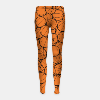 Thumbnail image of Hoop Dreams II Girl's leggings, Live Heroes
