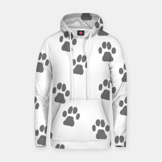 Thumbnail image of Paw print Cotton hoodie, Live Heroes