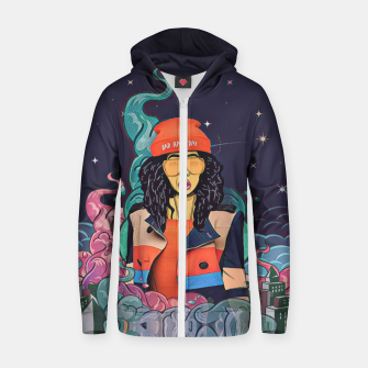 Thumbnail image of Hair Cotton zip up hoodie, Live Heroes
