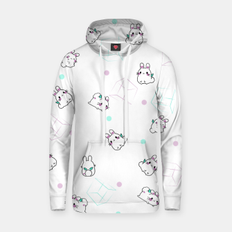 Thumbnail image of Playing bunnies Cotton hoodie, Live Heroes