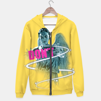Thumbnail image of Dont Cotton zip up hoodie, Live Heroes