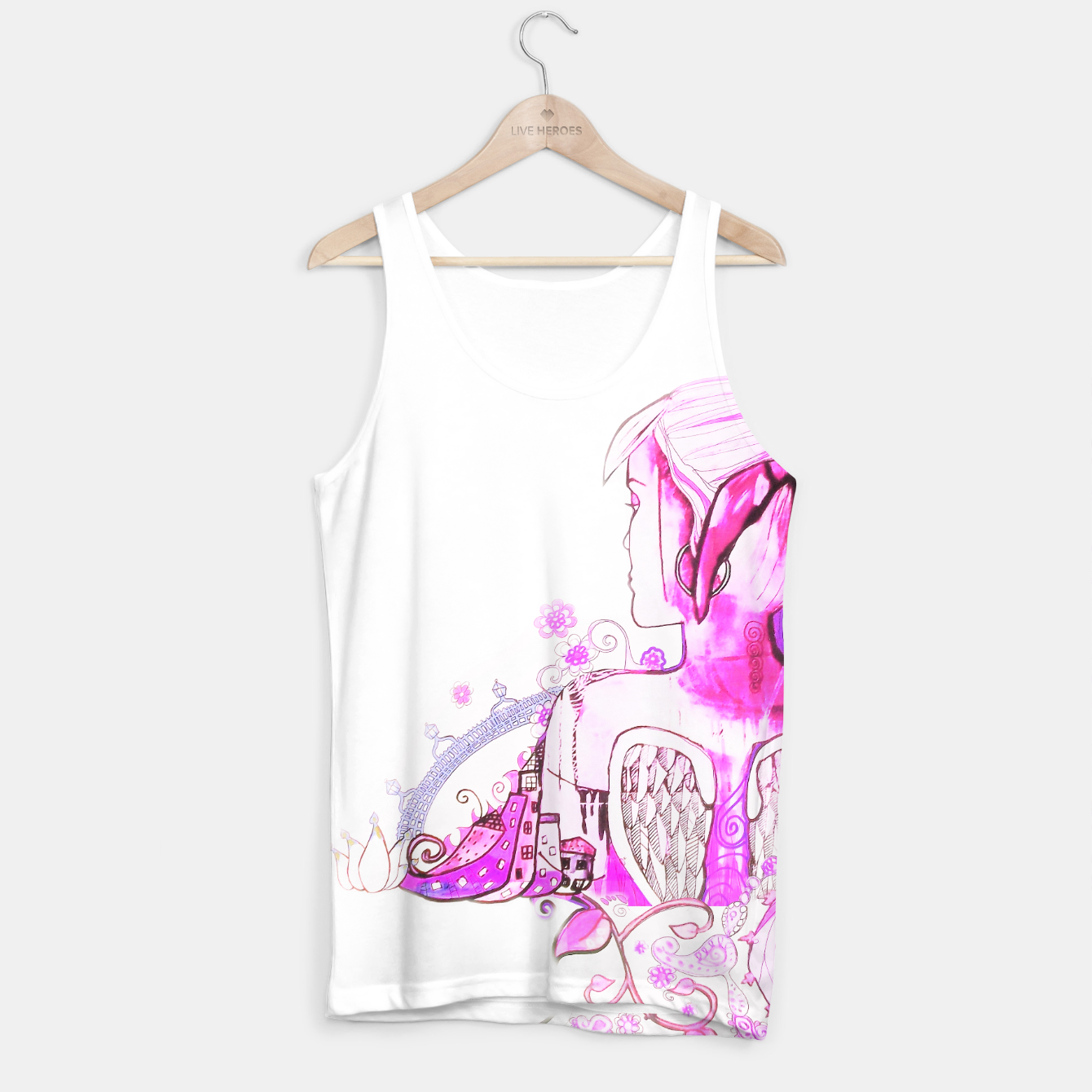 Image of Dublin Angel Pink Tank Top - Live Heroes