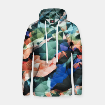 Thumbnail image of psychedelic geometric triangle polygon pattern abstract background in orange green blue Cotton hoodie, Live Heroes