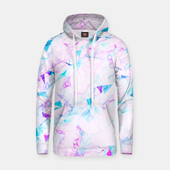 Thumbnail image of psychedelic geometric triangle polygon pattern abstract background in pink purple blue Cotton hoodie, Live Heroes