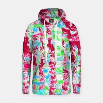 Thumbnail image of psychedelic painting texture abstract pattern background in pink blue green Cotton hoodie, Live Heroes
