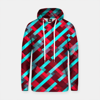 Thumbnail image of geometric pixel square pattern abstract background in red blue Cotton hoodie, Live Heroes