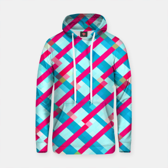 Thumbnail image of geometric pixel square pattern abstract background in blue pink Cotton hoodie, Live Heroes