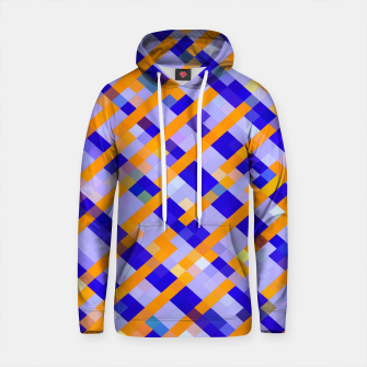Thumbnail image of geometric pixel square pattern abstract background in orange blue purple Cotton hoodie, Live Heroes