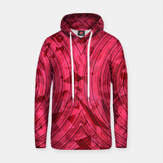 Thumbnail image of psychedelic geometric circle pattern abstract background in red and pink Cotton hoodie, Live Heroes