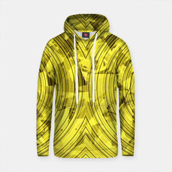 Thumbnail image of psychedelic geometric circle pattern abstract background in yellow Cotton hoodie, Live Heroes