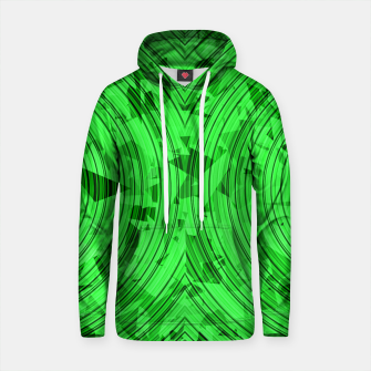 Thumbnail image of psychedelic geometric circle pattern abstract background in green Cotton hoodie, Live Heroes