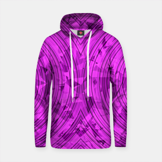 Thumbnail image of psychedelic geometric circle pattern abstract background in pink Cotton hoodie, Live Heroes