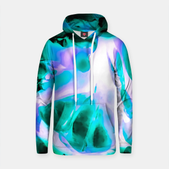 Thumbnail image of closeup rose texture abstract background in blue purple and green Cotton hoodie, Live Heroes