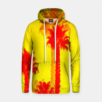 Thumbnail image of orange palm tree pattern abstract with yellow background Cotton hoodie, Live Heroes