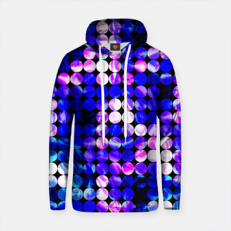 Thumbnail image of circle pattern abstract background with splash painting abstract in blue and pink Cotton hoodie, Live Heroes