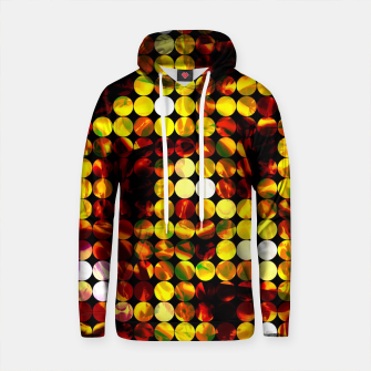 Thumbnail image of circle pattern abstract background with splash painting abstract in yellow red brown Cotton hoodie, Live Heroes