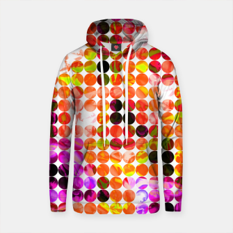 Thumbnail image of circle pattern abstract background with splash painting abstract in orange green pink Cotton hoodie, Live Heroes