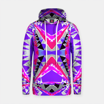 Thumbnail image of psychedelic geometric abstract pattern background in pink and purple Cotton hoodie, Live Heroes